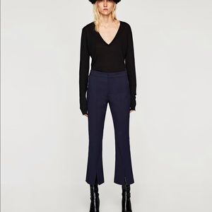 Zara trousers with slit detail
